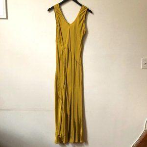 TELA Scoopneck Ruffle Maxi Dress Gown